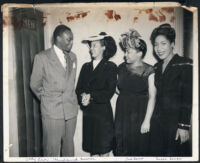 Leon Hardwick with Lil Cumber and Melba Foppe, Los Angeles, 1940s