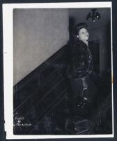 Woman in a fur coat, Los Angeles, 1940s