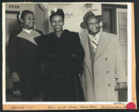 Mantan Moreland with his wife Hazel and daughter Marcella, Los Angeles, 1940s