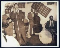 Herb Jeffries performing in Los Angeles, 1940s