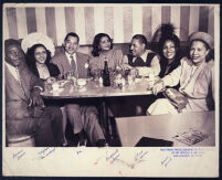 Walter L. Gordon, Jr., out with a group, Los Angeles, 1940s