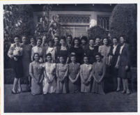 Group of unidentified women posing, Los Angeles, 1940s