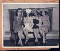 Dorothea Towles and Hazel Shumate at a fashion show, Los Angeles, May 1946