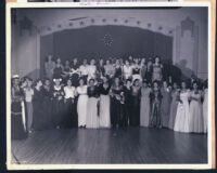 Alpha Kappa Alpha formal event, Los Angeles, 1940s