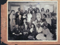Group including Rev. Samuel M. Beane and L. G. Robinson, Los Angeles, 1940s