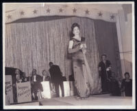 Ethel (Sissle) Gordon at event with the Sammie Franklin Orchestra, Los Angeles, 1940s