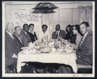 Dinner given in honor of Marshall Shepherd, Los Angeles, March 1947