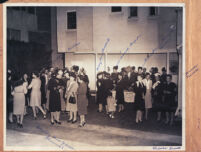 Backyard party in Los Angeles, 1940s