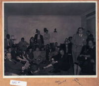 "Gathering attended by Earl ""Red"" Griffin, Al Jarvis, and others, Los Angeles, 1940s"
