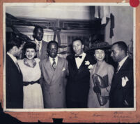 Group of African American dancers and journalists, Los Angeles, 1940s