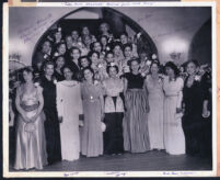 Gathering of women at the Wilfandel Club, Los Angeles, 1940s