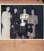 Anne Harris Wheeler and three friends, Los Angeles, 1940s