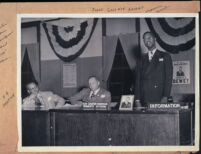 Attorney Vince Monroe Townsend, Jr., candidate for Congress, with B. B. Bratton and Lt. Gov. Goodwin Knight, Los Angeles, 1947 or 1948