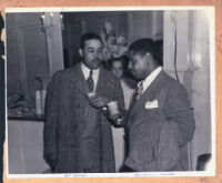 Boxer Joe Louis and comedian Wonderful Smith, Los Angeles, 1940s