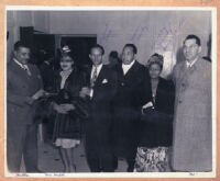 Walter L. Gordon, Jr., with Leonard Reed and Jimmy and Dorothy Mundy, Los Angeles, 1940s