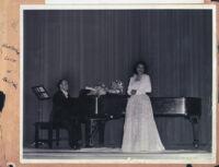 Soprano Hortense Love at a recital, Los Angeles, 1940s