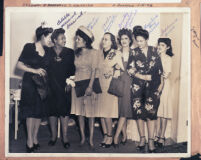 """Gathering of the """"Top Gals"""", Los Angeles 1940s"""