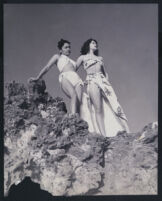 L'Tanya and another woman modeling swimsuits, Los Angeles, 1940s