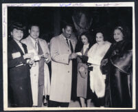 Joe Louis's sister, Eddie Jackson, Lee Gaines, Vivian Jackson and others, Los Angeles, 1940s