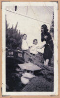 Ethel (Sissle) Gordon with daughter Cynthia and Paula Brown Higgins , Los Angeles, 1940s