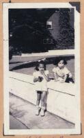 Cynthia and Noble Sissle Jr., children of Ethel (Sissle) Gordon, Los Angeles, 1940s