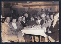 Members of The Charioteers and others out at a nightclub, San Francisco, 1940s