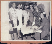 African American women at an event for a women's organization, Los Angeles, 1940s