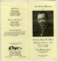 Funeral program for Jesse B. Mann, Chicago, October 1988