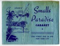Souvenir of Smalls Paradise cabaret, New York City, 1940s