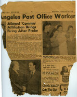 Clipping from the Pittsburgh Courier with stories about Los Angeles, February 26, 1949
