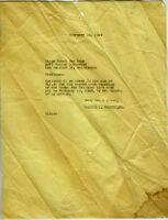 Letter from Walter L. Gordon, Jr. to Stone Hotel for Dogs, Los Angeles, 1949