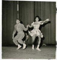 Esvan Mosby dancing with female partner, Los Angeles, 1940s