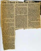 Newspaper clipping of obituary of Leon Albany (Barney) Bigard, Los Angeles, 1980