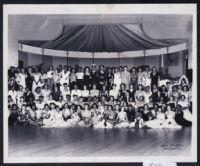 African American sorority women in an auditorium, Los Angeles, 1940s