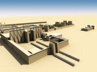 "3D Visualization of Columned ""Bubastite Court"""