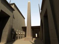 3D Visualization of Hatshepsut's Obelisk in the Wadjet Hall