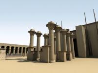 3D Visualization of the Kiosk of Taharqo