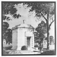 A.J. Franks Mausoleum, Chicago, photograph of rendering