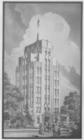 Apartments (Deco), unbuilt concept, photograph of rendering