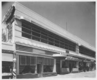 De Mille store, Los Angeles, street elevation