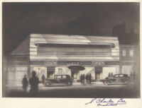 De Mille store, Los Angeles, photograph of rendering