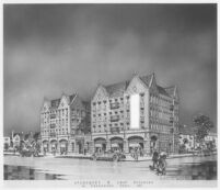 Haddon Hall Apartments, Los Angeles, photograph of rendering