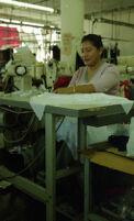 Garment Worker Sewing