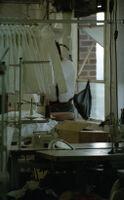 Garment Worker Working on Jackets