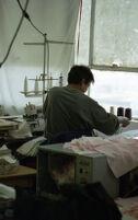 Garment Worker Working Diligently