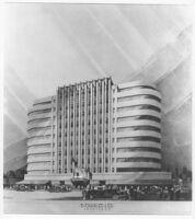 Landau Building, photograph of rendering