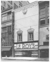 Le Roy's Store, remodeled street elevation