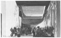 Mexico Threatre 1945, photograph of watercolor rendering, foyer