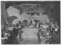 Mexico Threatre 1945, photograph of watercolor rendering, restaurant