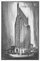 Office Tower, photograph of rendering
